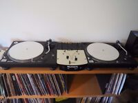 2 x Technics 1210 Mk2 Direct Drive DJ Turntable Decks plus Numark Pro SM1 thrown in for FREE!!