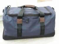 Tula blue canvas holdall (never used)