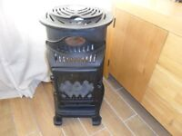 Provence Portable Fluless Gas Heater / Stove Fire / Black Cast Iron