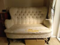 Queen Anne chairs and footstall