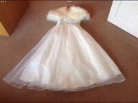 Bridesmaid Dress and Shawl