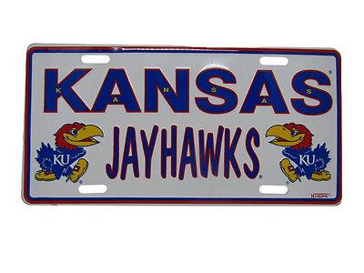 Kansas State Jayhawks 6 X12  Aluminum License Plate Tag