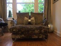 Crushed velvet BALMORAL sofa & armchair