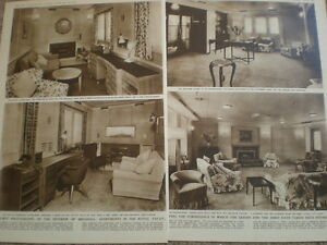 Photo-article-HMY-royal-Yacht-Britannia-Tower-interior-royal-suite-1954-Ref-O54