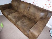 3 seater sofa (dark brown)