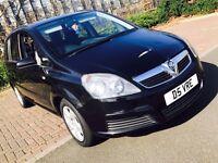 2007 Black Vauxhall Zafira 1.6 Petrol Low Mileage