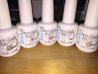 Gelish - only swatched. 10 bottles