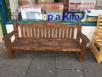 Long bench solid peice of outdoor furniture