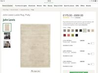 Brand New John Lewis Rug in Putty