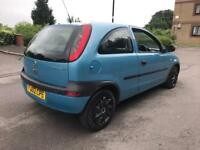 VAUXHALL CORSA, 2002, 3 DOOR HATCHABCK, GREEN cheap yaris clio micra
