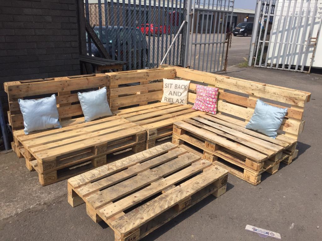 Pallet L shaped garden seating | in Newport | Gumtree