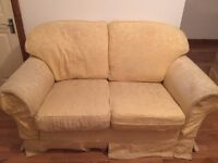 Second Hand 2 Seater Sofa, Armchair with Foot Stool