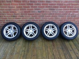 BMW 1 series Winter wheels, set of 4 - Dunlop winter tyres and alloys, 6mm tread depth