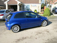 Ford Fiesta ST 2006 102400 mls Blue Good Cond. Full Exhaust + Spare Alloy Wheels Available
