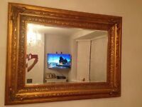 Large gold gilt antique design mirror