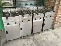 CATERING COMMERCIAL EQUIPMENT VALENTINE TWIN TANK FRYER CAFE KEBAB CHICKEN RESTAURANT TAKE AWAY SHOP