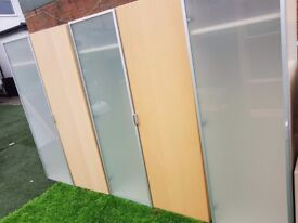 2 wardrobes with additional unit