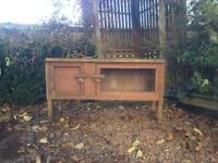 Unwanted rabbit hutch for sale good condition