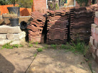 Assortment of roof tiles