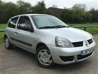2007 RENAULT CLIO 1.2 CAMPUS + LOW MILEAGE + HPI CLEAR px polo yaris fiesta corsa
