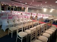 SPECIAL OFFER!!!! Chair covers 50p, £5 martini glass, £8 candelabra, hire