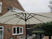 As new Parasol with Bluetooth and lights, solar powered
