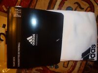 2 x Pairs of Adidas Milano White Football Socks Size 3 (UK 61/2 to 8) Brand New Sealed