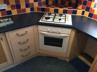 Gas oven, hobs and extractor fan