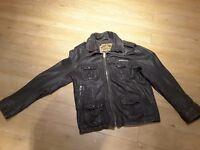 Superdry mens leather jacket