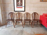 4 x Ercol Vintage Mid Century Chairs