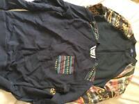 Jumper and zip up jacket size small men's topman etc