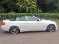 BMW E93 320d M Sport Convertible, Mineral White, Immaculate Condition, V.High Spec, Low Mileage