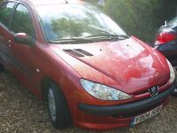 peugeot 206 cheap tax insurance rac cover included