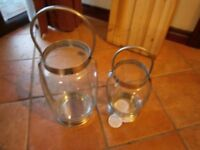 TWO GLASS KITCHEN JARS/CONTAINERS (NEVER USED) - BANGOR - £12 - NO SUNDAY CALLERS