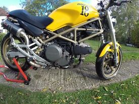 Ducati Monster M600 2001, Yellow, Tail Tidy, A2 licence restrictor separate, not fitted on bike)