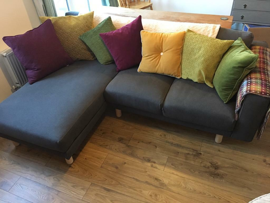 ikea norsborg grey corner sofa in fishponds bristol gumtree. Black Bedroom Furniture Sets. Home Design Ideas