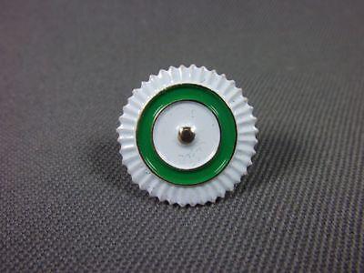 Sachsen Kokarde, weiß- grün- weiß zum anstecken, Metall, mit 2 Splinten