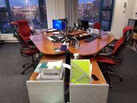 4 Bene desks with Cabinets