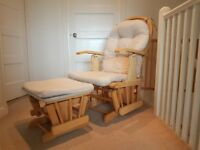 Nursing glider chair and stool
