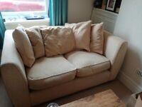 Cream coloured 2 Seater Sofa