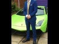 Blue prom suit