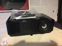 Optoma h181x full 3D HD home cinema projector as new very high spec with screen may swap