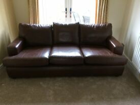 Derwent Brown Leather Settee