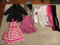 GIRLS KIDS CHILDREN BUNDLE OF CLOTHES DRESS COAT TIGHTS SIZE 4 - 5 YEARS