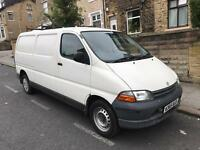 Toyota hiace long wheelbase W reg non turbo-choice of many