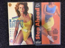 Lean Routine fitness VHS - set of two - Jane Fonda and Carolan Brown