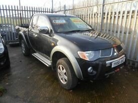 mitsubishi L200 warrior 2+2 seats 2 dr 2006 model,65,000 miles,full mot on purchase,4wd truck