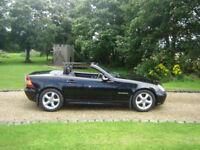 Mercedes slk convertible manual black 78k excellent condition.