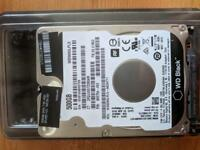 "Hard-disk 2.5"" 7200rpm WesternDigital Black 500gb(powe on hours count 7h)"