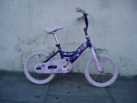 Kids Bike, by Kid Cool, Pink & Purple, 14 inch for Kids 4 Years +, JUST SERVICED/ CHEAP PRICE!!!!!!